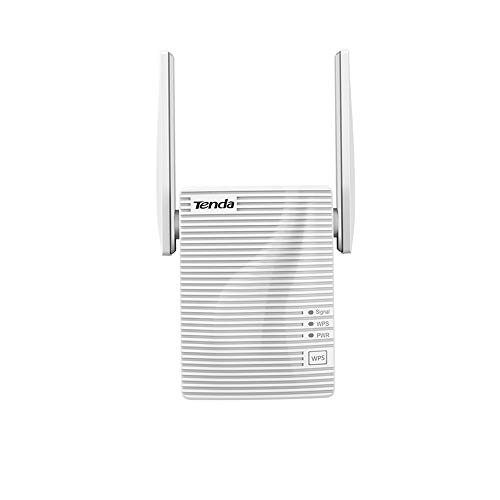 Tenda A301 Ripetitore WiFi 300 Mbps, 1 * 10/100M LAN Porta Ethernet, Plug And Play, Easy Expand, Segnale Forte con 2 Antenne LED Intelligente, Amplificadores WiFi Esterne Spina Europa