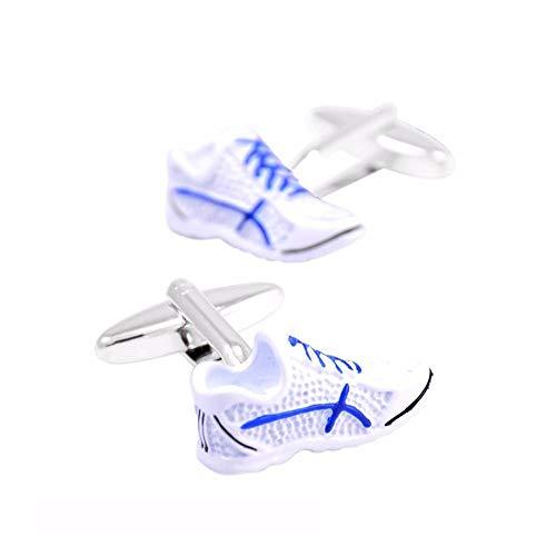 jiao Neuheit Sportschuhe Manschettenknöpfe für Herren Shirt Manschettenknöpfe Hochwertige weiße Emaille Manschettenknöpfe Shirt Zubehör Manschettenknöpfe