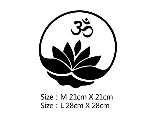 MDGCYDR Pegatinas Coche Graciosas 28 Cm Flor De Loto Hinduismo Yoga Meditación Pegatinas Coche Graciosas Impermeable Autoadhesivo Extraíble Etiqueta De La Cubierta del Rasguño Decoración Automática