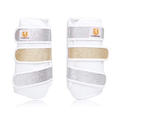Horsecode Gamaschen White Glitter & Go VB