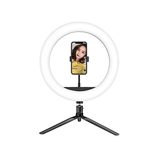 Selfie Anillo De Luz Mini LED Cámara Ligera con Trépied & Flexible Soporte para Teléfono Teléfono Celular Soporte De Escritorio para Transmisión En Vivo Maquillaje Vi-B 20cm