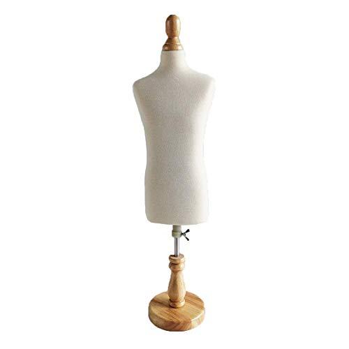 Maniquíes de costura Tailors Maniqui maniquí de modistas pequeños Maniquí masculino, escala 1: 2 altura ajustable, maniquíes de sastre Mini vestido de muñeca Accesorios de exhibición de forma Decorac