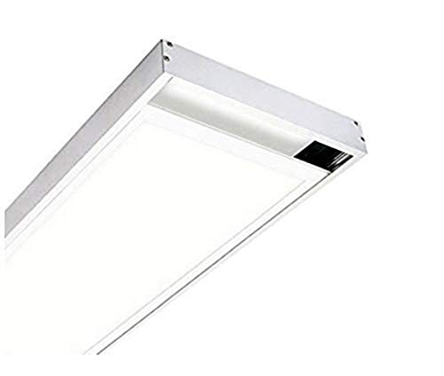 KIT Superficie Para Instalacion de Panel LED 120x30cm. Lacado Blanco. Para montaje panel 1195x295mm