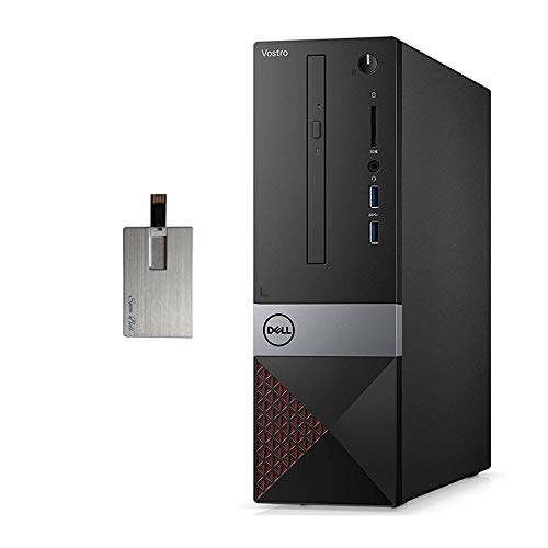 2020 Dell Vostro 3471 Small Desktop Computer, 9th Gen Intel Core i3-9100, 8GB RAM, 1TB HDD, Intel UHD Graphics 630, DVD-RW, Wired Keyboard and Mouse, HDMI, Windows 10 Pro, 32GB Snow Bell USB Card