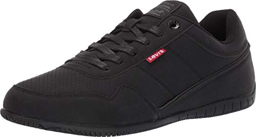 Levi's Mens Rio Waxed UL NB BT Athletic Inspired Fashion Sneaker Shoe, Black, 10 M