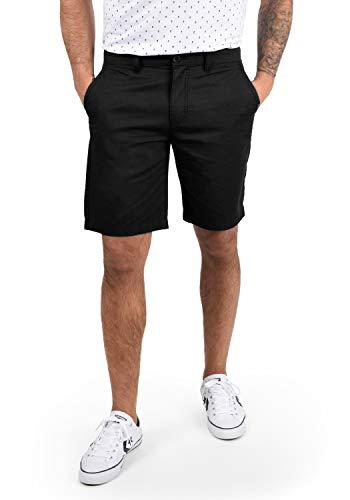 !Solid Thement Herren Chino Shorts Bermuda Kurze Hose Aus 100% Baumwolle Regular Fit, Größe:L, Farbe:Black (9000)