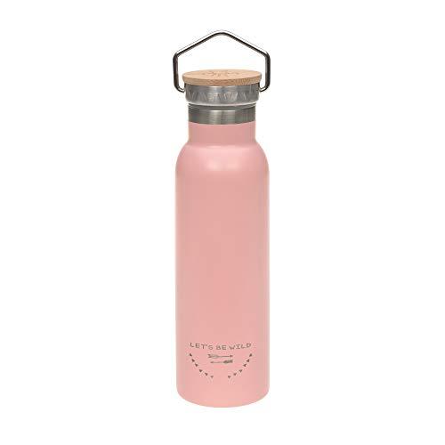 LÄSSIG geïsoleerde roestvrij stalen fles BPA-vrij dubbelwandig Adventure Outdoor roze