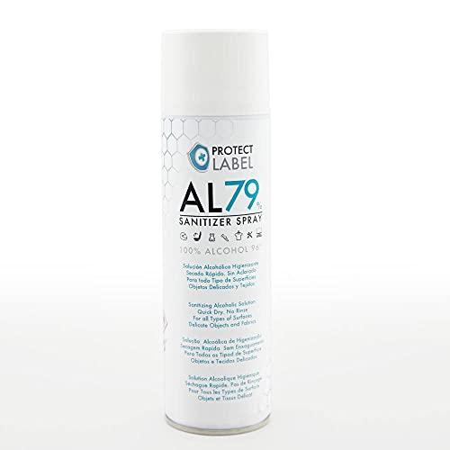 Protect Label AL79% Spray Hidroalcohol 500ml Higienizante Manos y Superficies 79% Alcohol Aerosol Hi