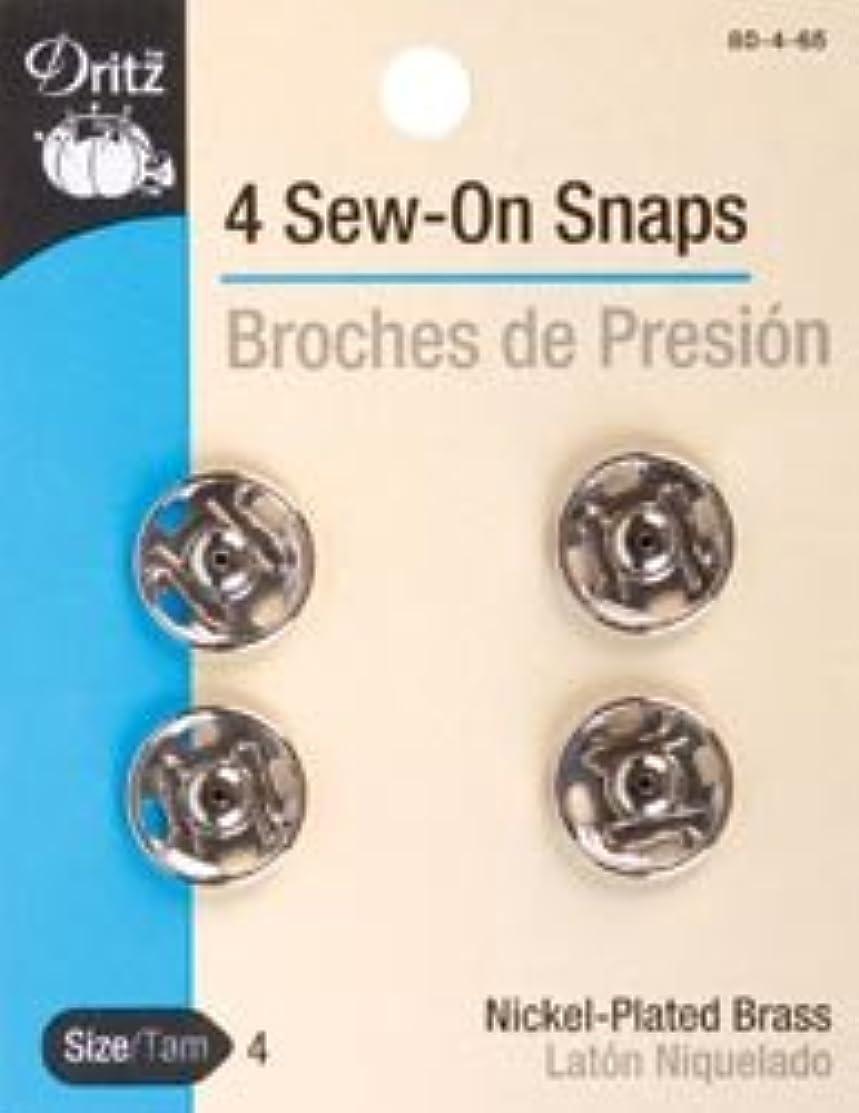Bulk Buy: Dritz Nickel Sew On Snaps Size 4 4/Pkg 80-4-65 (3-Pack)