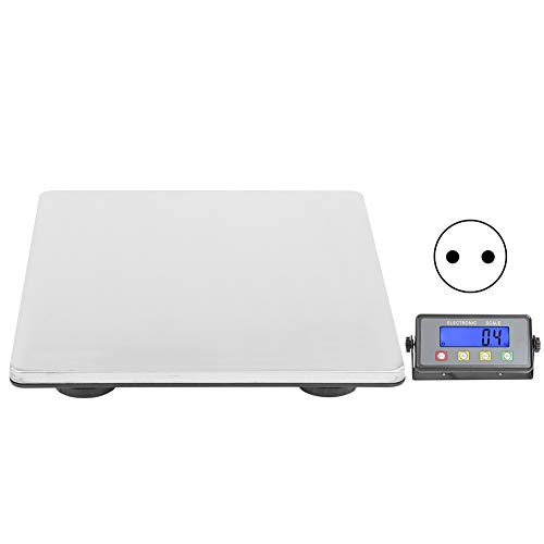 EBTOOLS Báscula de Paquete Postal Digital con Pantalla LCD, Balanza Comercial Precisión, KG/LB, OZ/LB(Enchufe o Batería Alimentada)