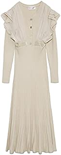 赞助广告- Lily Brown 雪纺拼接针织连衣裙 LWNO215069 女士