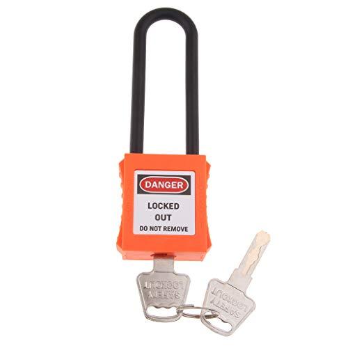 Homyl Padlock Wide PA And Travel Cabinet in Steel with Lock Luggage Wardrobe 2 Keys 40mm Orange