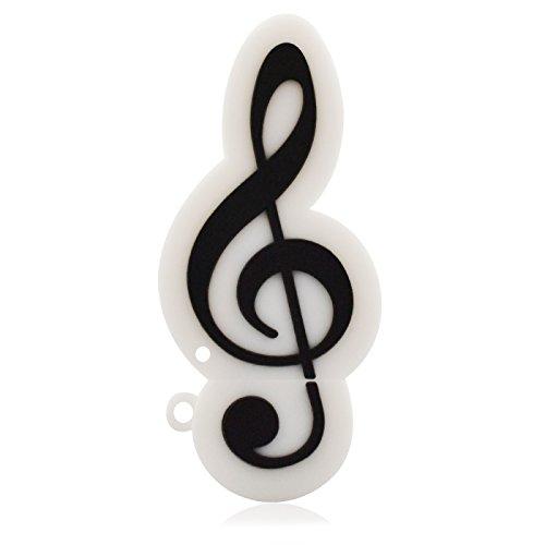 818-Tech No1440003 Hi-Speed USB-Sticks (2/4/8/16/32/64 GB) música Note de agudos colour blanco...