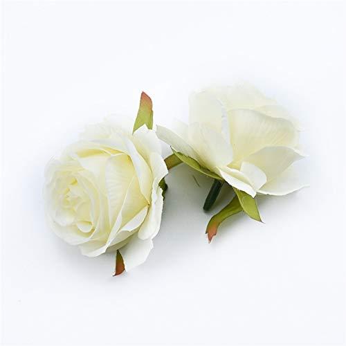 Flores de las plantas artificiales de la decoració Accesorios Liquidación DIY Regalos Caja Rosas de seda Muro de flores 6/10 Pieces Flores artificiales para la decoración del hogar Coche de boda Nupci