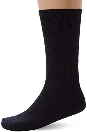 FALKE Herren Socken No. 2 Finest Cashmere - 87prozent Kaschmir, 1 Paar, Blau (Dark Navy 6370), Größe: 41-42