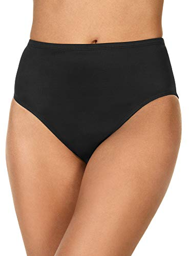 Magicsuit Women's SwimwearJersey Classic Brief Full Coverage Swim Bottom, Black, 08