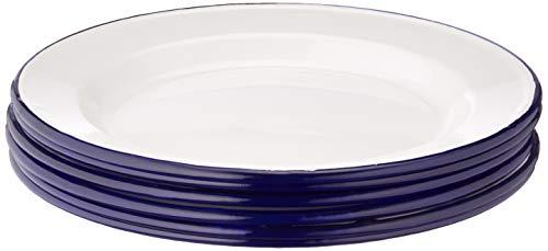 6x Olympia esmalte placa de cena 245mm servicio comedor cocina vajilla