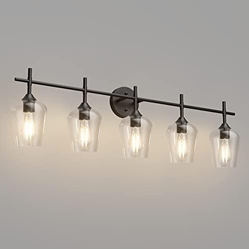 Ralbay Vintage Black Bathroom Vanity Light 5-Lights...