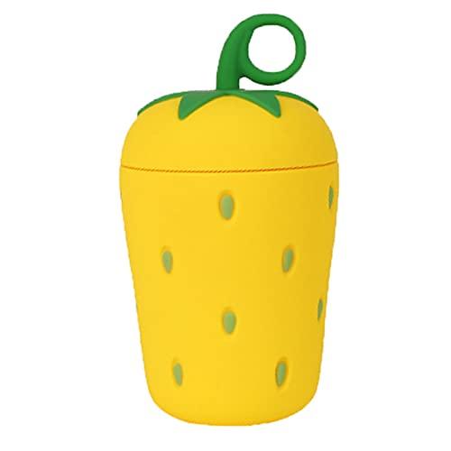 Chuanhao Creative Strawberry Water Cup portátil resistente al calor, acero inoxidable, botella de vacío para el hogar, camping y viajes