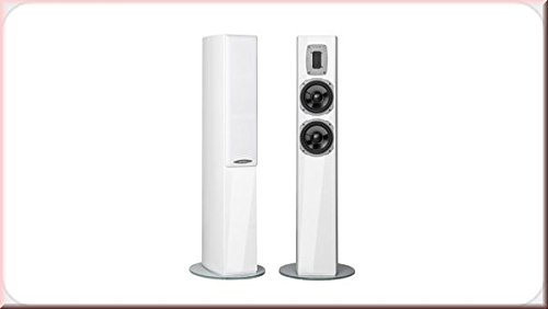 Quadral Edlestahl Stil 52100W Weiß Lautsprecher–Lautsprecher (3-voies, 2.0Kanal, kabelgebunden, 100W, 35–65000HZ, weiß)