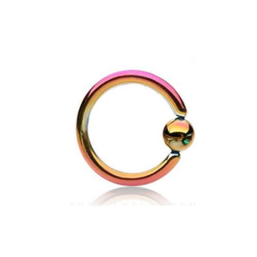 Diseño de arco iris muelles IP de titanio anillo de cuentas