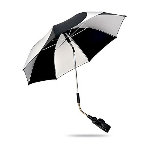 Kinderwagen Sonnenschirm - UV Schutz Schirm Verstellbar Kinderwagen Sonnenschirm Universal Kinderwagen Sonnenschirm Kinderwagen Schirm Panda