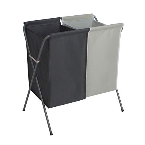 Lichten En Donkere Folding wasmand wasmand washandjes Storage XJY (Color : Dark gray+light gray, 尺寸 Size : 56 * 36 * 61cm)