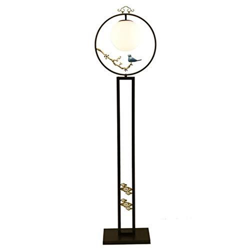 Staande lamp voor dagelijks gebruik, plum/vogel, decoratie, creatieve woonkamer, moderne verticale lamp, studeerkamer, staande lamp