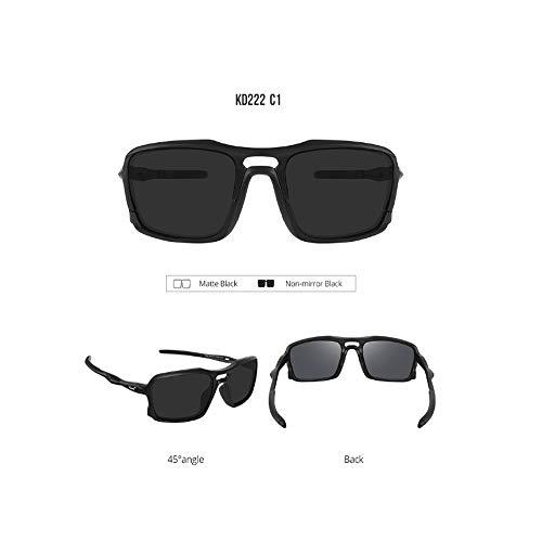 Marco de Gafas Ciclismo Deportes de esquí Gafas de Sol polarizadas TR90 Nano Anti del Aceite de Cine Unisex Hombres Mujeres Ciclismo Running Pesca al Aire Libre 100% de protección UV,Negro