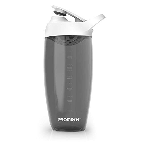 PROMiXX Shaker Bottle - Premium Protein Shaker for Protein Mixes and Supplement Shakes - (24oz - Durable / Easy to Clean)