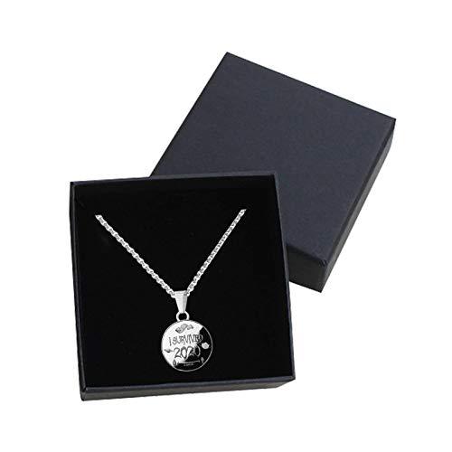 Eariy Halskette mit Gedenkmünze, 2020, ein unvergessliches Jahr im Jahr 2020, Souvenir für Familie, Freund, Ostergeschenke, Valentinstags-Halskette, Schmuckgeschenk (C, 1 Stück)