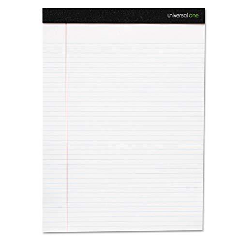 Universal 56300 Premium Ruled Writing Pads, White, 5 x 8, Narrow Rule, 50 Sheets, 6 Pads 50 Sheet White Pad