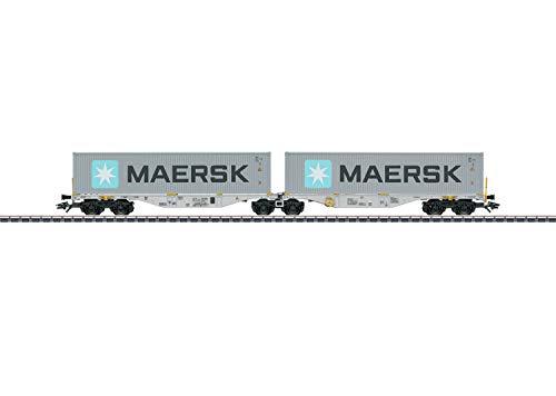 Märklin 47803 - Doppel-Containertragwagen Bauart Sggrss 80, AAE, Spur H0
