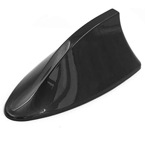 Modengzhe Shark Fin Antenna AM/FM Radio Signal Decorative Antenna for Car, Black ABS Material