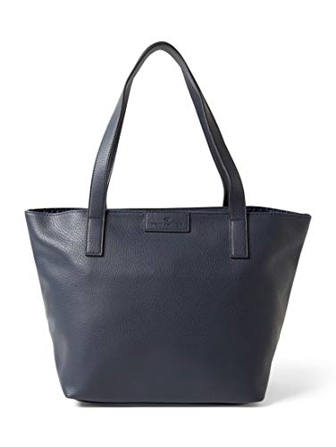 TOM TAILOR Damen Taschen & Geldbörsen Shopper Miri dark blue cognac,OneSize