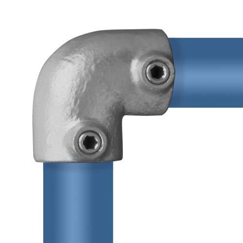 Rohrverbinder Rohrverbinder T-st/ück Offen /Ø 26,9 mm Temperguss thermisch vollbadverzinkt inkl Stellschrauben