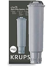 Krups F08801 Filtro de Agua para cafeteras Claris, con iones y carbón activado de plata, para cafeteras KRUPS, Previene depósitos de cal y protege la cafetera