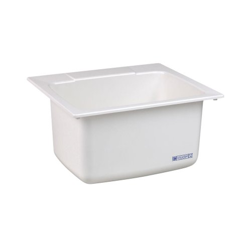 Mustee 10 Utility Sink, 22-Inch x 25-Inch, White