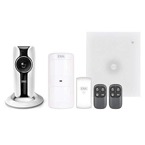 Sistema de alarma de vigilancia miGuard Burglar, sistema de alarma de intrusos, wifi, inalámbrica, visión nocturna, cámara IP HD, 720p, transmisión en vivo, grabación de instantáneas, enchufe de audio bidireccional, control inteligente mediante aplicación gratuita