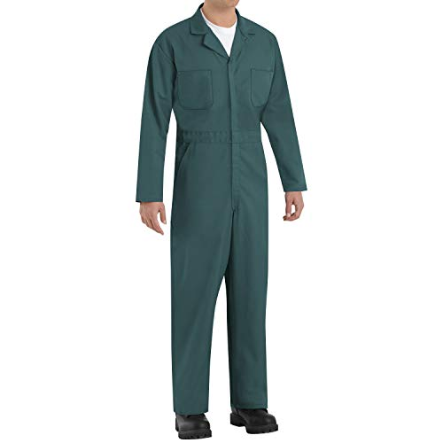 Red Kap Men's Twill Action Back Coverall, Spruce Green, 40