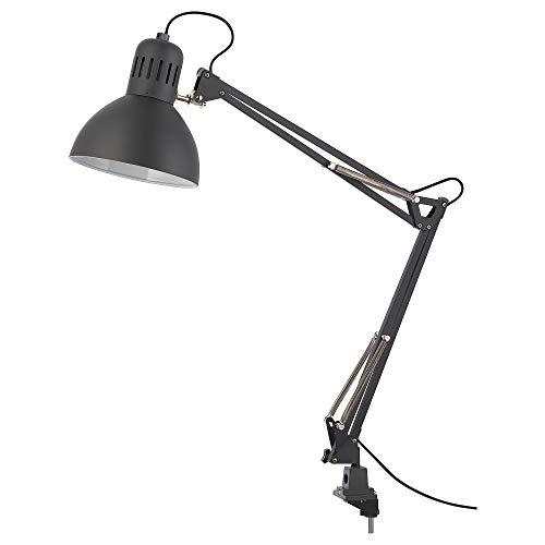 Ikea Plastic Work Lamp, Dark Grey