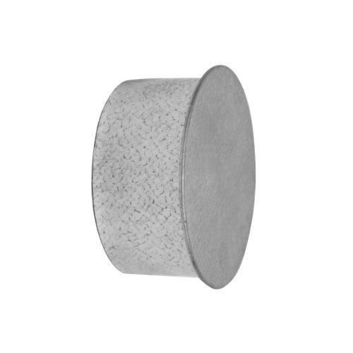 Kamino Flam Rohrkapsel aus verzinktem Stahl, feueraluminiert (FAL), Kaminverschluss mit Isolierung, Verschluss für alle gängigen Ofenrohre, Ofenlochdeckel für Rohre Ø 100 mm, Tiefe: ca. 48 mm