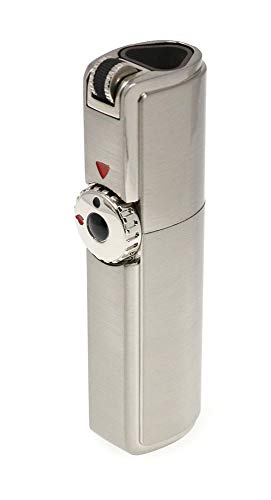 Scorch Torch Skyline Triple Jet Flame Torch Cigarette Cigar Lighter with Cigar Punch Cutter Tool (Metallic Silver)