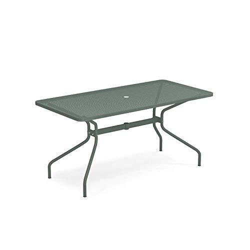 Froschkönig24 Emu Cambi - Tavolo da giardino, colore: Verde scuro, lunghezza: 160 cm