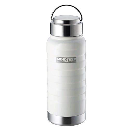 ボトルジェイ ステンレス 大容量 マグ ボトル 水筒 保冷 保温性に優れた真空2重構造 広口タイプで洗いやすい シンプル 持ちやすいデザインで使いやすい すぐ飲める直飲みタイプで便利 (ホワイト, 約550ml)