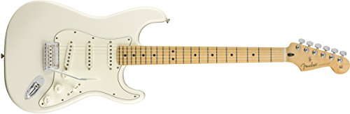 Fender Player Stratocaster - Guitarra eléctrica, diapasón de arce, color blanco polar