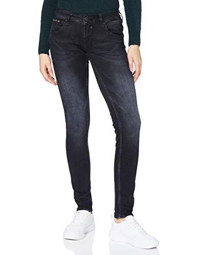 Herrlicher Damen Touch Slim Reused Denim Black Jeans, Crow 863, W30/L30