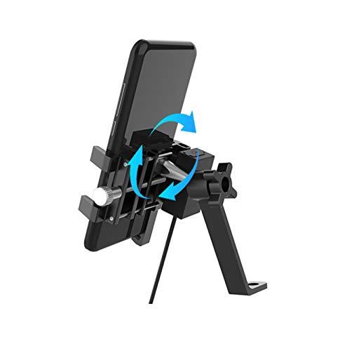 Soporte para teléfono móvil para Motocicleta y Bicicleta, Soporte Universal para Bicicleta, Soporte para teléfono para Bicicleta con rotación 360, Soporte para la mayoría de Dispositivos móviles