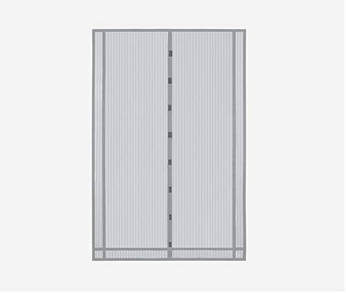 Sekey 230x160 cm Cortina Mosquitera magnética para la protección contra Insectos, el mosquitera magnético Ideal para Puerta de balcón, Puerta de terraza (se Puede Cortar en Altura y Ancho), Gris