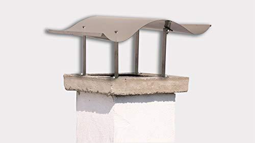 Preisvergleich Produktbild Schornsteinabdeckung 125x70cm,  starr,  Edelstahl Gr. 6 Marke: Szagato (Kaminhaube Kaminabdeckung Schornsteinhaube Regenhaube) Made Germany
